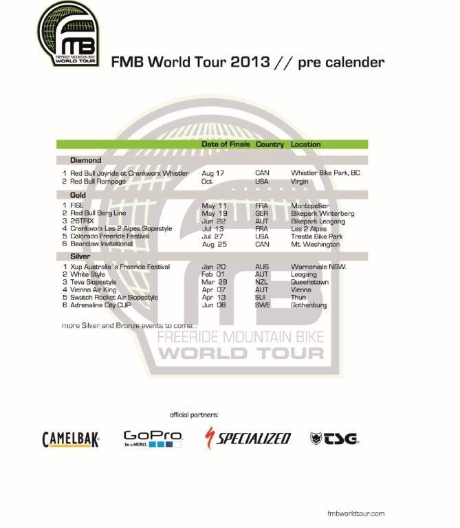 FMB World Tour Releases Preliminary 2013 Event Calendar