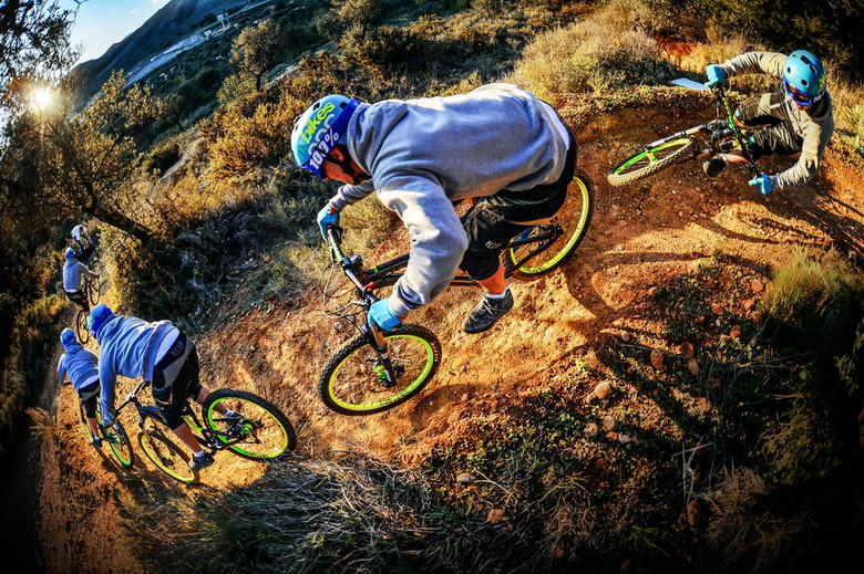Not everyone can ride berms like Maciek, but a compact bike will help you stay tight.