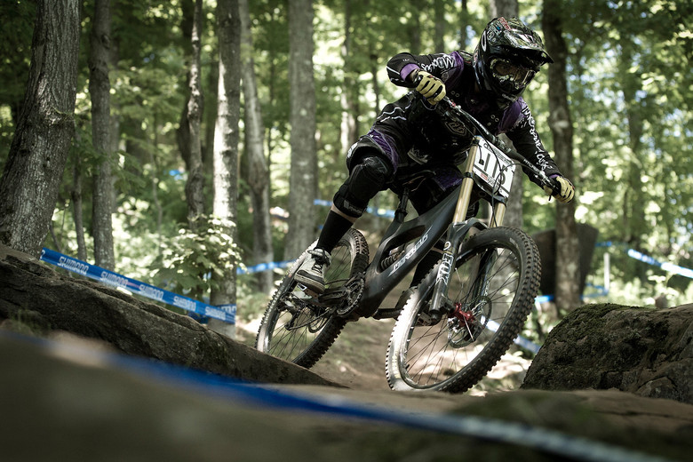 Alejo Ortiz from Ecuador rallies the first generation prototype at the Windham World Cup. - Photo by Sven Martin