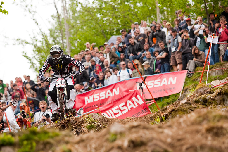 La Bresse, France World Cup. That guy screaming sums up the excitement of Sam Hill on a downhill bike. Here's to 2013!