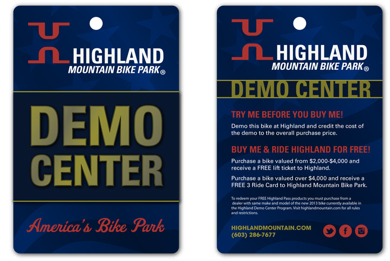 Highland Mountain Bike Park to Open NEW State of the Art Demo Center for 2013