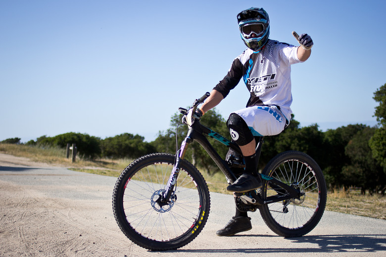Jared Graves and the Yeti Factory racers used a Yeti SB-66 with custom link that drops the bike down to 4-inches of travel. Photo by Brandon Turman