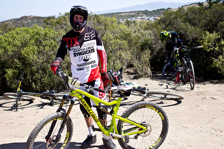 27.5 ENVE AM rims (not DH) were on Josh Bryceland's Santa Cruz Bronson this weekend at Sea Otter