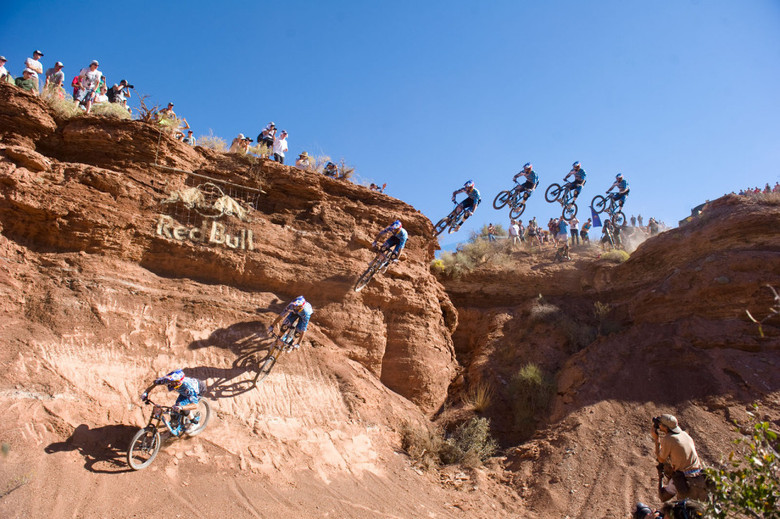 Gee Atherton at the 2010 Rampage - photo by Ian Hylands