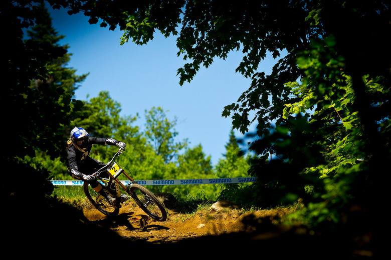 Rachel Atherton at the 2012 Mont Sainte Anne World Cup - photo by Sven Martin