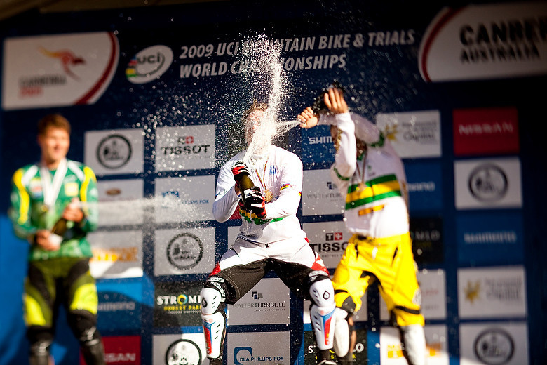After so many years of frustration and near misses, Peaty finally grabs his World Championship in Canberra in 2009.