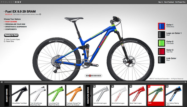 Trek Unveils Custom Mountain Bike Program - Project One