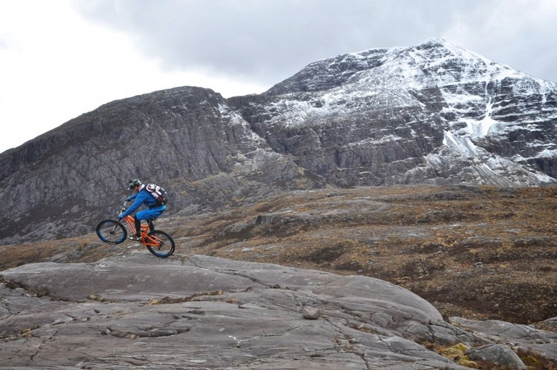 Peaty ripping up the Highlands. Photos courtesy of Chris Ball at The Baller Consultancy.