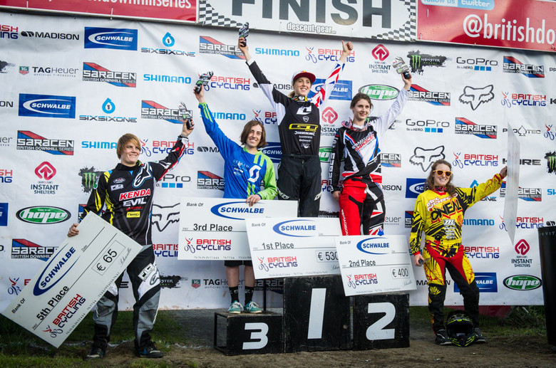 Women's podium - photo by Matt Delorme