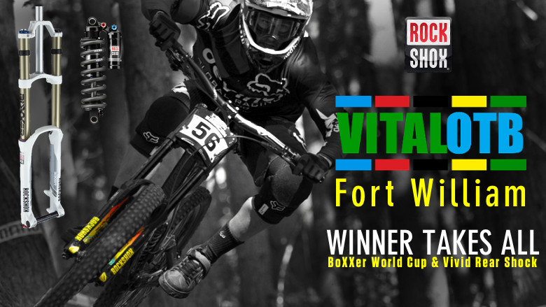 Win a RockShox BoXXer World Cup and Vivid Rear Shock - Vital OTB Fort William