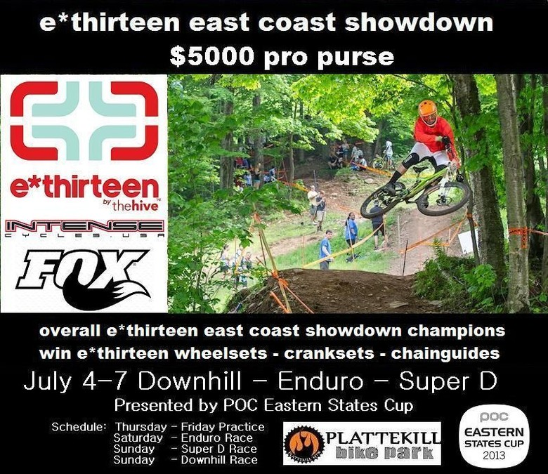 E*thirteen East Coast Showdown at  Plattekill Mountain Bike Park
