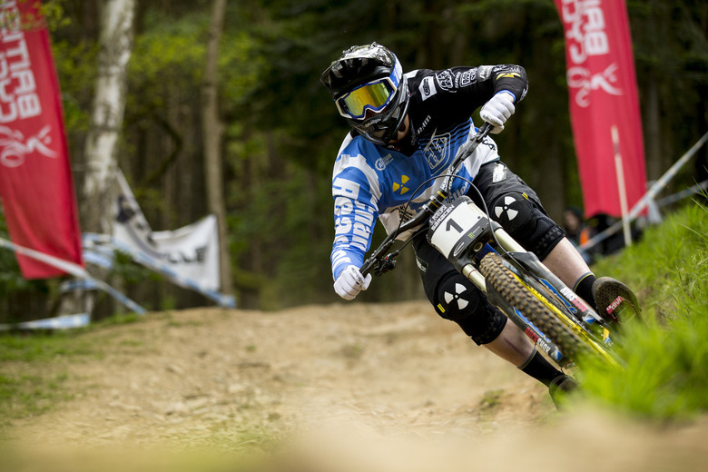 Matt Simmonds at the 2013 BDS round at Innerleithen - photo by Sven Martin