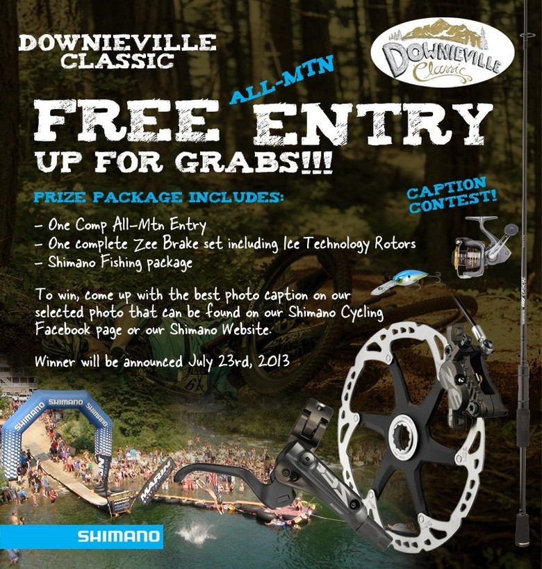 Shimano Announces Photo Caption Contest, Fish Casting Competition at Downieville Classic