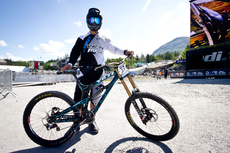 Richie's winning ride - the Yeti 303 WC as seen in Fort William.