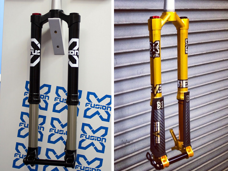 From black to gold, the evolution of X-Fusion's latest fork - the Revel HLR. The carbon guards are a nice touch.