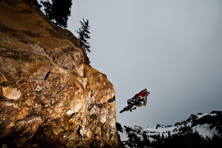 Doerfling doing as Doerfling does high up in the Whistler alpine.