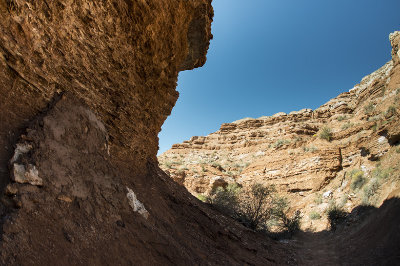 Kirill Benderoni's open loop at Rampage, just below the canyon gap. - Photo by Ian Collins