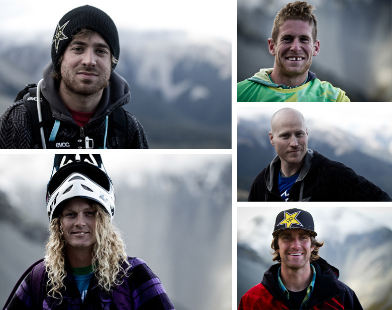 Clockwise: Kurt Sorge, Sam Pilgrim, Chad Kagy, Cam McCaul, and Kelly McGarry were heavy hitters in Teva's crew. Absent are Paul Bass and Jeff Lenosky. Jeff helped develop the shoes from the ground up. - Photos: Sven Martin