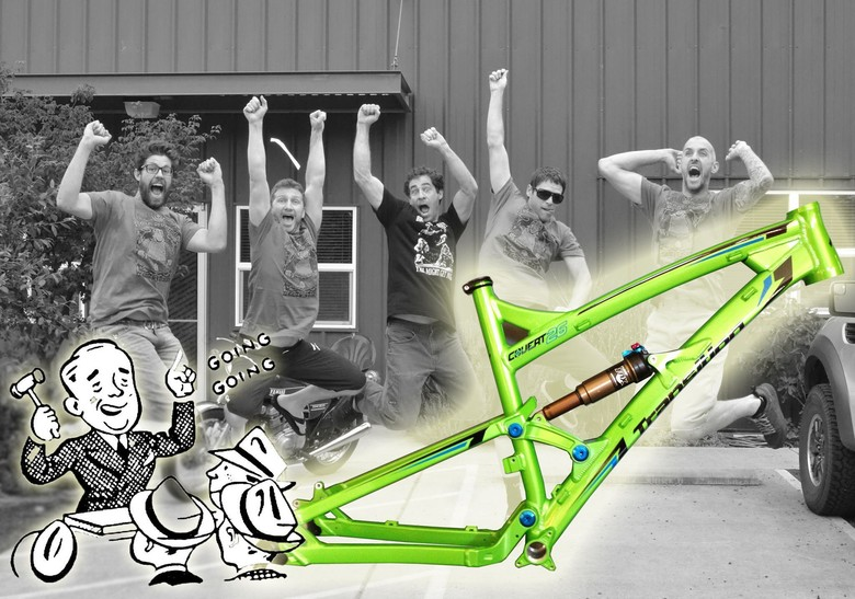 2013 Transition Covert 26 TEAM GREEN  Frameset Charity Auction