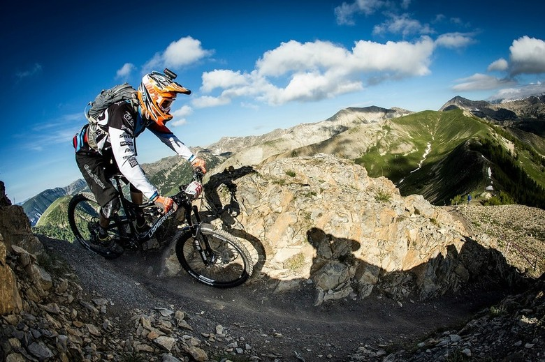 Vouilloz on his way to victory in the 2013 EWS race at Val d'Allos - photo by Sven Martin