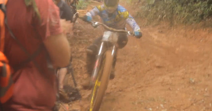 Spectators and Filmers Taken Out - Crazy Cairns MTB Carnage