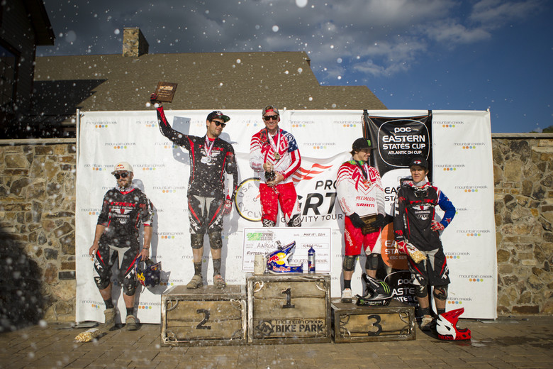 2014 ProGRT Spring Classic Men's Podium: Gwin, Mulally, Ropelato, MacDonald and Brannigan