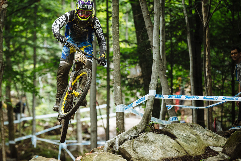 Sam Hill taking it steady during qualifying - photo by Duncan Philpott.