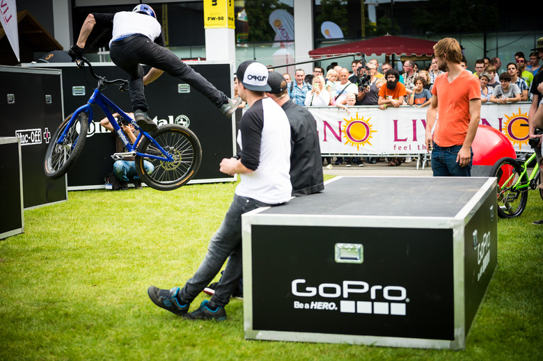 Danny MacAskill's Drop and Roll Tour at Eurobike
