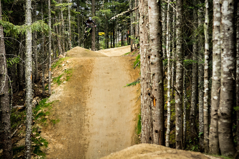 Whistler's varied terrain served as the perfect place to try the fork out. From big jumps to lots of bumps, the place has it all.