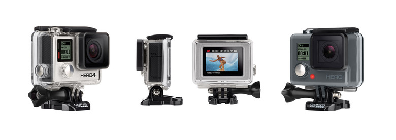 3 New GoPro Cameras - HERO4 Black, Silver, and Entry Level HERO ...