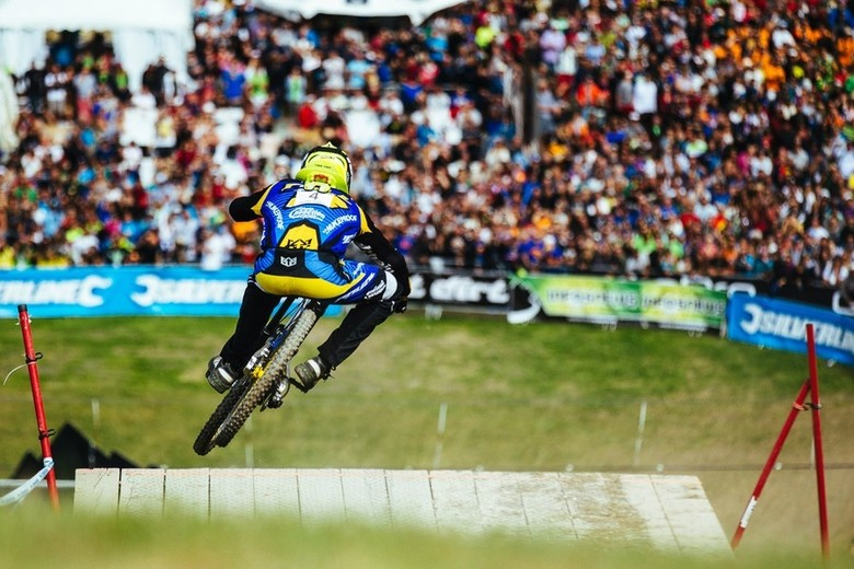 Sam Hill wrote another chapter in his legacy with an impressive win on an impressive track in Meribel 2014 - photo by Duncan Philpott.