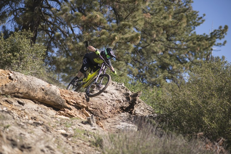 Nico Menard putting his creation through its paces in California - photo Sam Decout.