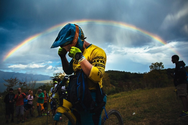 Richie found gold at the end of the rainbow - photo Duncan Philpott.