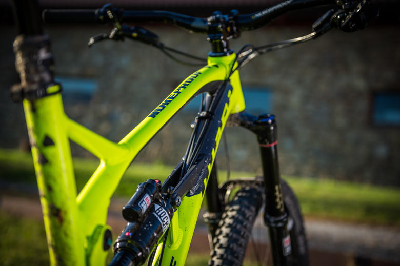 The skinny top tube adds vertical compliance to the frame says Nukeproof.