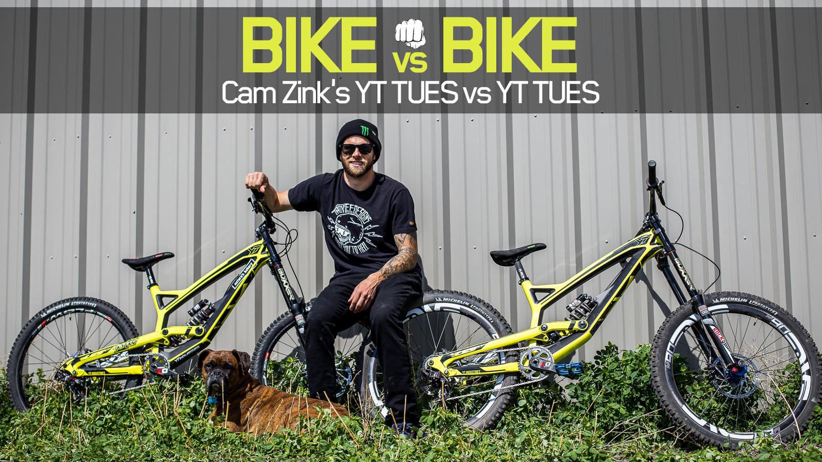 Bike Vs Bike Cam Zink S Yt Tues Vs Yt Tues Mountain Bikes