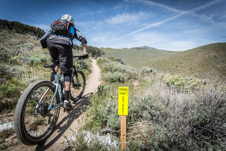 High above Reno, NV riders fought for the top spot in the second round of the California Enduro Series, Saturday, May 14. Photo: Called to Creation