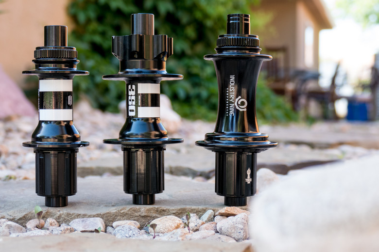 Hubs from left to right: 12x142mm, 12x157mm, and Super Boost Plus 12x157mm