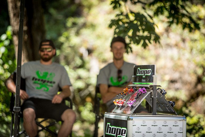 Hope was the title sponsor of the event. They had reps on hand to talk shop with riders and hand out product.