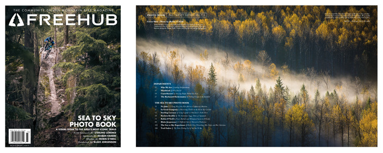Cover and Table of Contents for Freehub Magazine Issue 7.3, the Sea to Sky Photo Book.