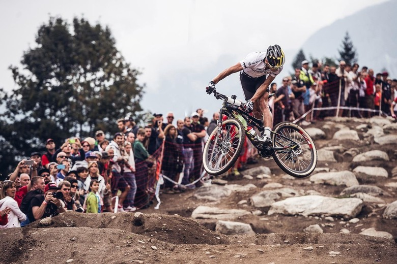 You are not Nino Schurter. Get a dropper post. Photo by Red Bull/Bartek Wolinski