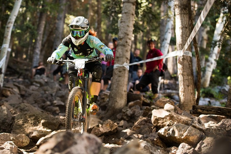 Teal Stetson-Lee hammering down the final stage of 2016 at Deer Valley Resort