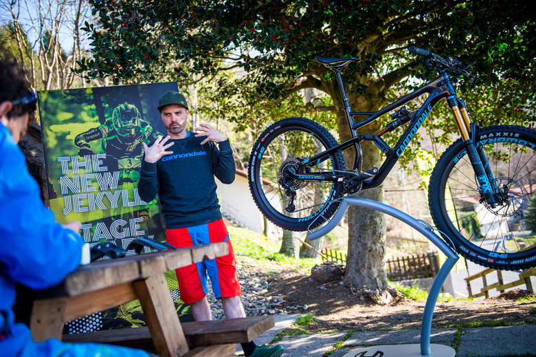 Cannondale's suspension wizard Jeremiah Boobar practicing his Italian.