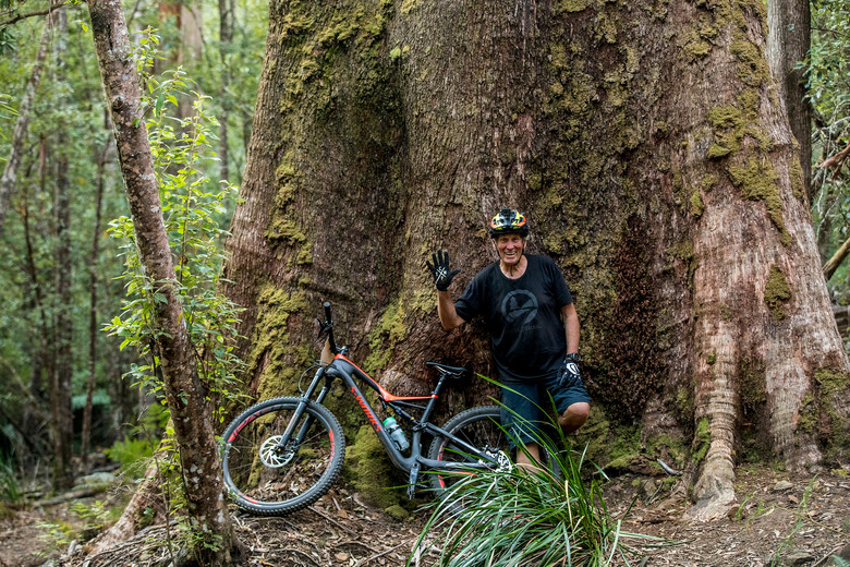 Glen Jacobs of World Trail fame (not to mention Mud Cows) has played a major part in getting the Blue Derby trail system to where it is now. Top bloke.