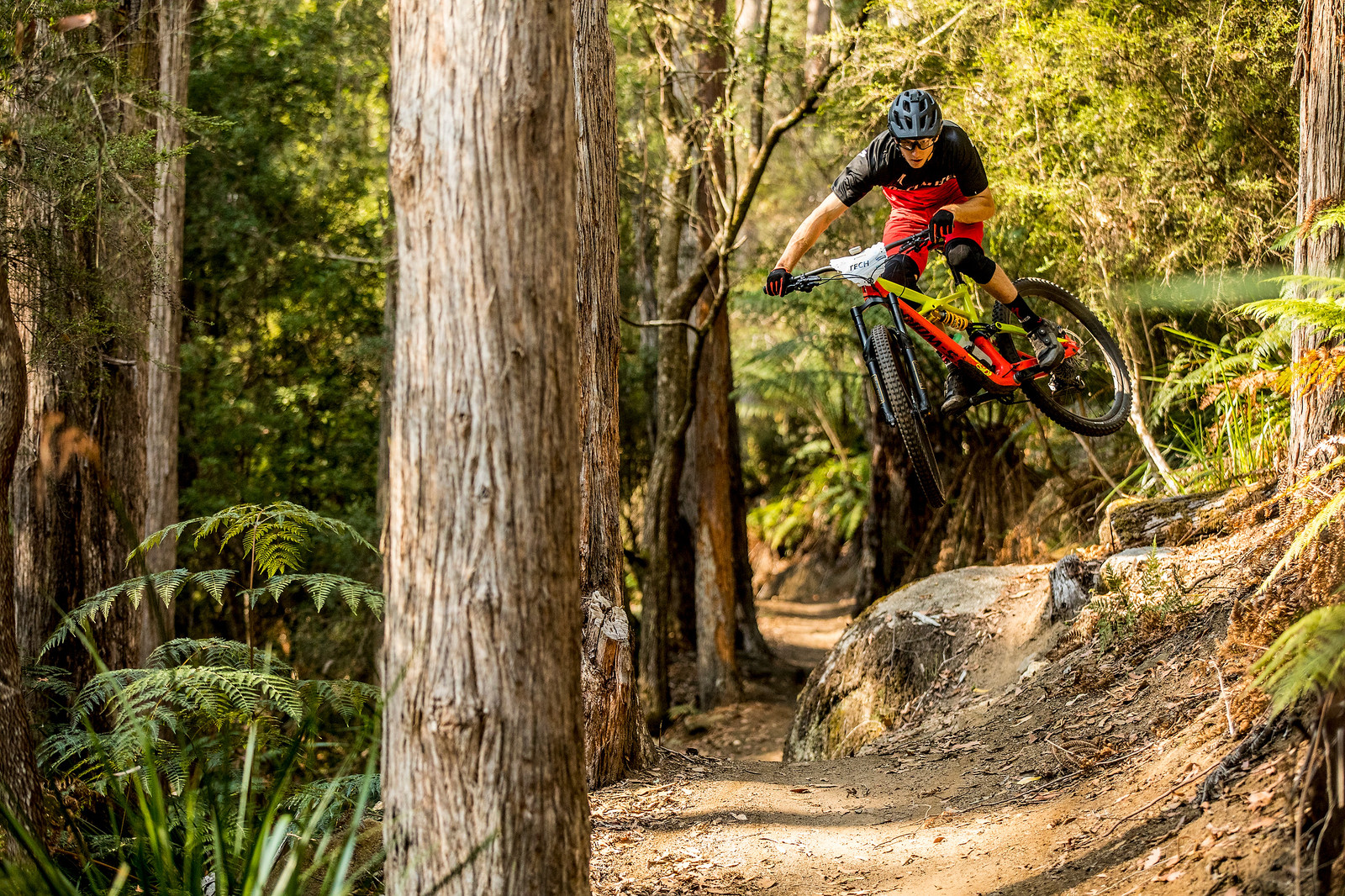 Ryan De la Rue has been building trails here for exactly three years now. You could say he has intimate knowledge of them. Fast fit and racing this weekend. Stage one bonus gap.