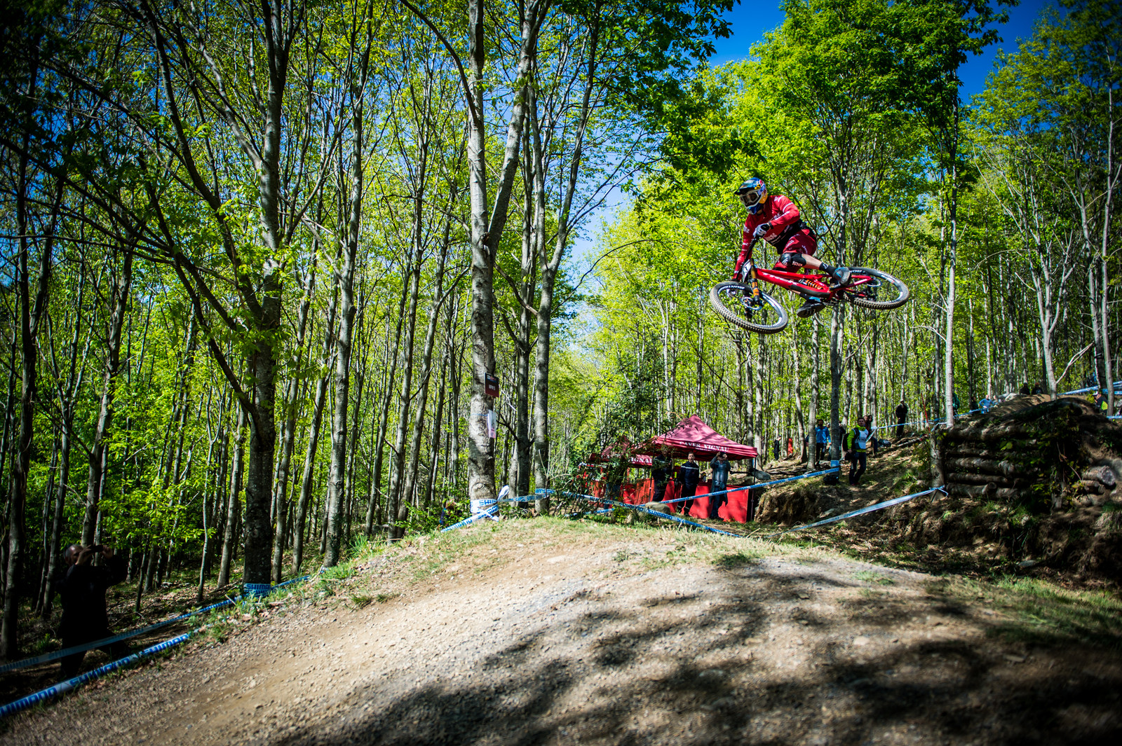 Gee Atherton, fastest in timed training.