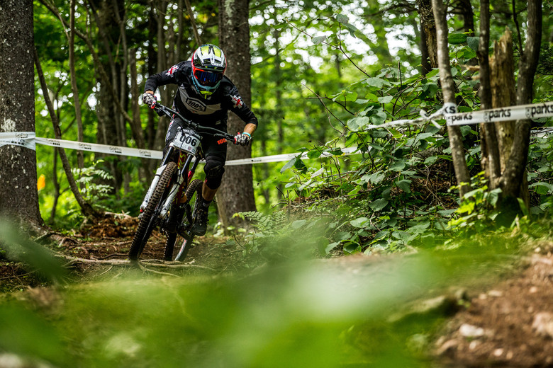 When you think of East Coast DH, Jordan Newth is one of the faces that comes to mind. The local shredder kept it consistent and focused all weekend, finding 22nd in Finals. His end-of-season form is looking strong.