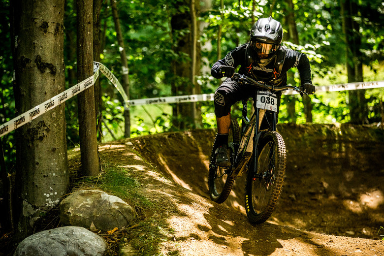 I met Hugo Langevin in Bromont the day before coming to Killington, which gave me the heads up that he'd be one to watch. The dude can ride a bike: 8th in finals.