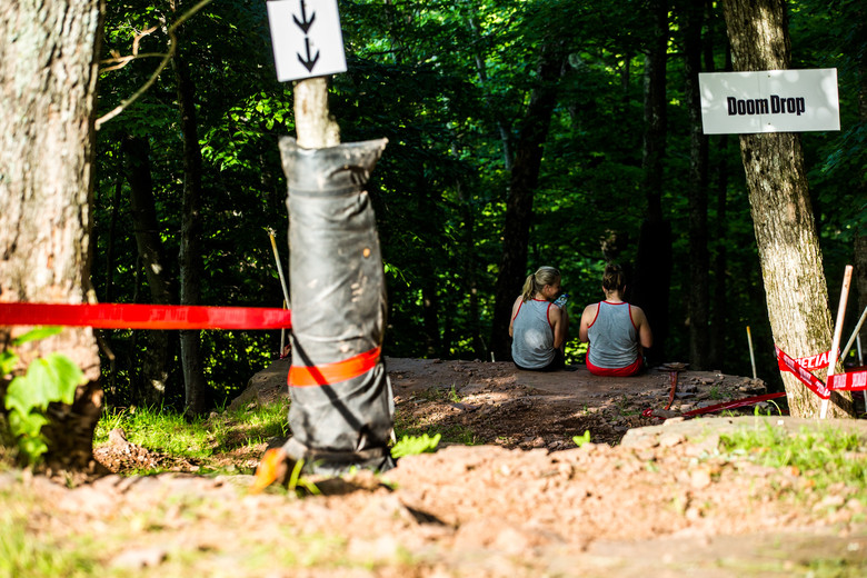 Frida Helen Ronning and Angelina Palermo talk line choice in what is perhaps the rowdiest section of the track.