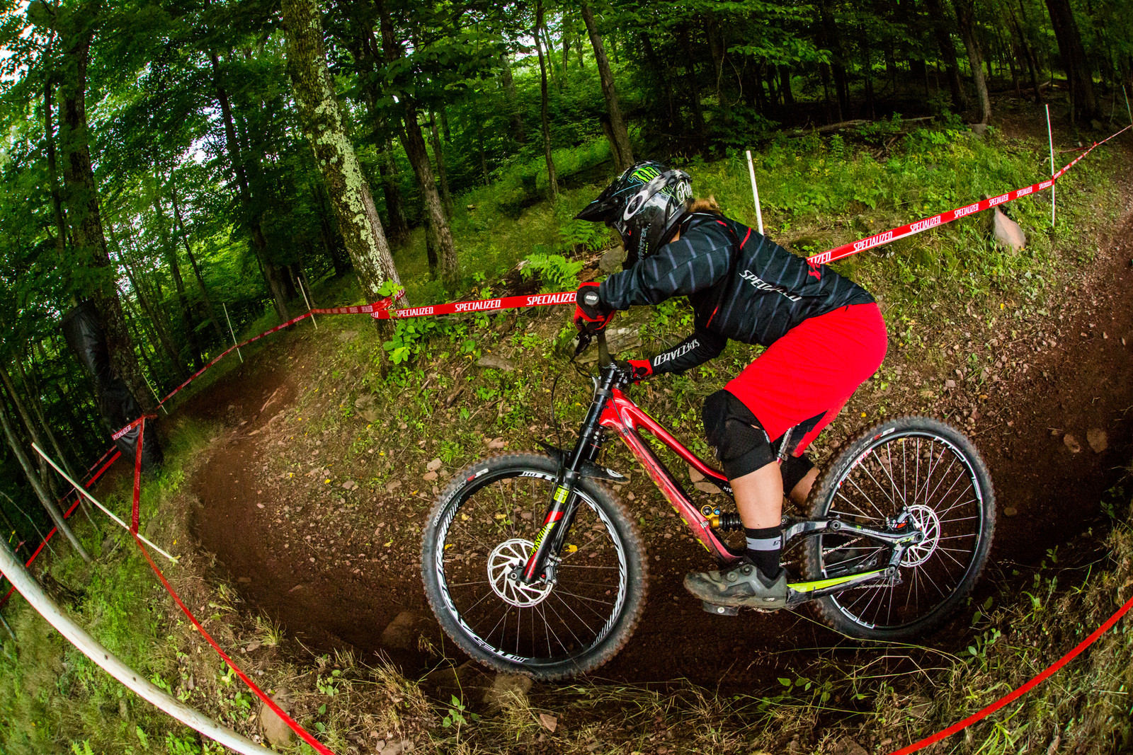 2017 Pro GRT Pro Women's overall winner, Angelina Palermo, railing one of the few bermed corners into 3rd place on the day.