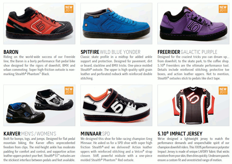 2011 5.10 Shoes Lineup? - bturman - Mountain Biking Pictures - Vital MTB